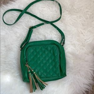 Jessica Simpson Green Quilted Crossbody